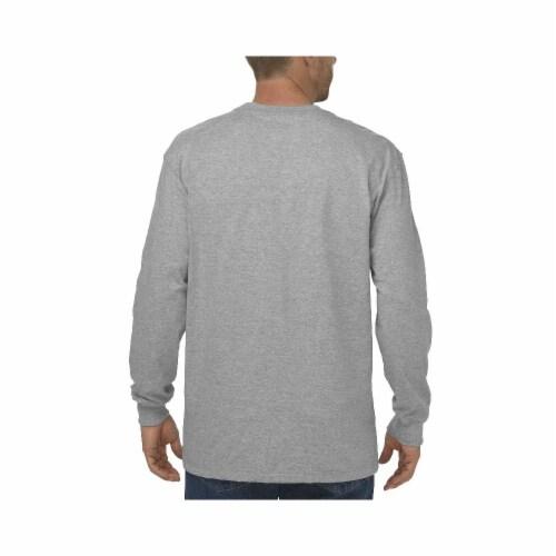 Dickies Long Sleeve Heavyweight Crew Neck T-Shirt - Heather Gray Perspective: left