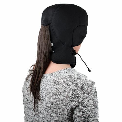 All Star Sports Catalyst Cryohelmet V2 Migraine Relief Cap, Medium/Large, Black Perspective: left