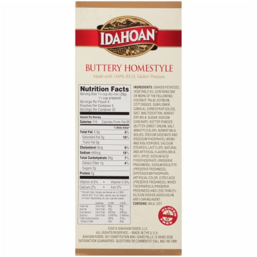 Idahoan Buttery Homestlye Mashed Potatoes 5 Count Perspective: left
