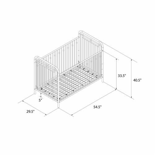 Little Seeds Monarch Hill Hawken Metal Crib, Dove Gray Perspective: left