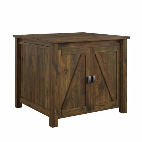 Farmington Litter Box Enclosure, Rustic Perspective: left