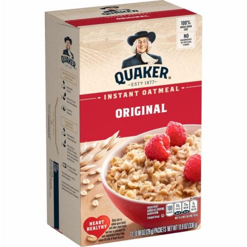 Quaker Original Instant Oatmeal Packets Perspective: left