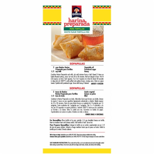 Quaker Harina Preparada White Flour Tortilla Mix Perspective: left