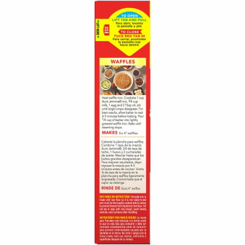 Aunt Jemima Original Pancake and Waffle Mix Perspective: left