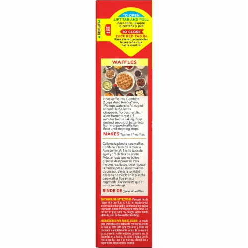 Aunt Jemima Complete Buttermilk and Waffle Pancake Mix Perspective: left