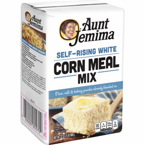 Aunt Jemima White Corn Meal Self Rising Flour For Baking Perspective: left