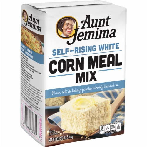 Aunt Jemima White Corn Meal Flour For Baking Perspective: left