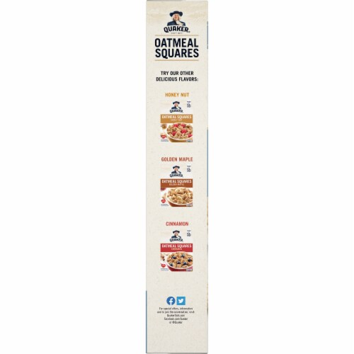 Quaker Brown Sugar Oatmeal Squares Breakfast Cereal Perspective: left