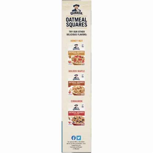Quaker® Brown Sugar Oatmeal Squares Breakfast Cereal Perspective: left