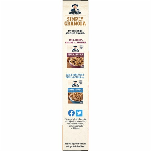 Quaker Simply Granola Oats Honey and Almonds Breakfast Cereal Perspective: left