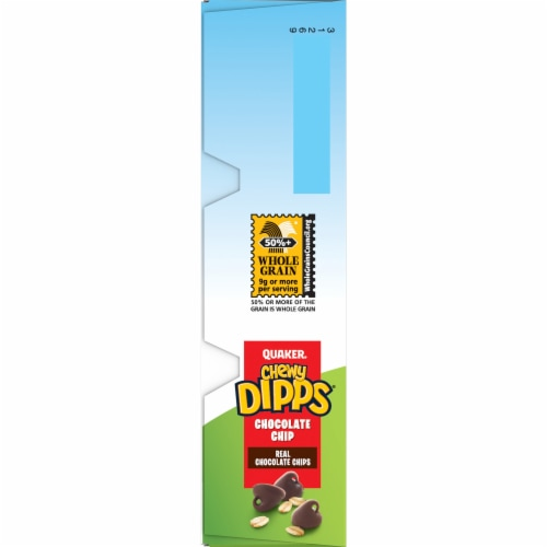 Quaker® Chewy Dipps® Chocolate Chip Granola Bars Perspective: left