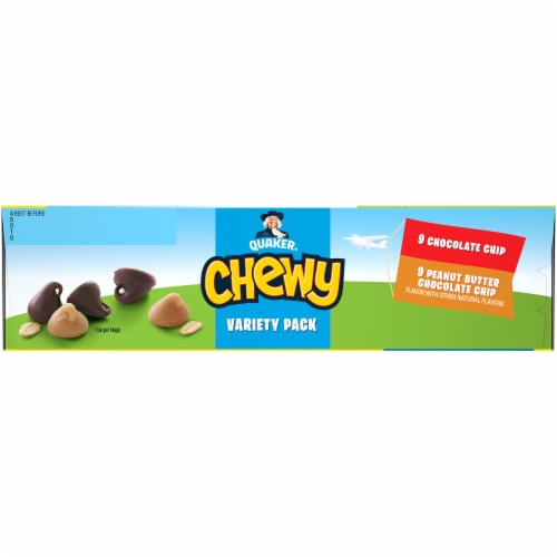 Quaker Chewy Less Sugar Granola Bar Variety Pack Perspective: left