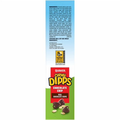 Quaker Chewy Dipps Chocolate Chip Granola Bars Perspective: left