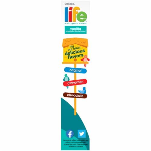 Quaker Life Vanilla Multigrain Breakfast Cereal Perspective: left