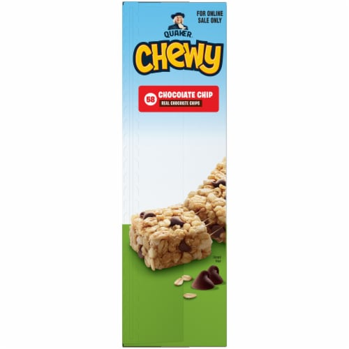 Quaker Chewy Chocolate Chip Granola Bars Perspective: left
