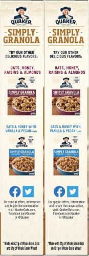 Quaker Simply Granola Oats Honey & Almonds Cereal Perspective: left