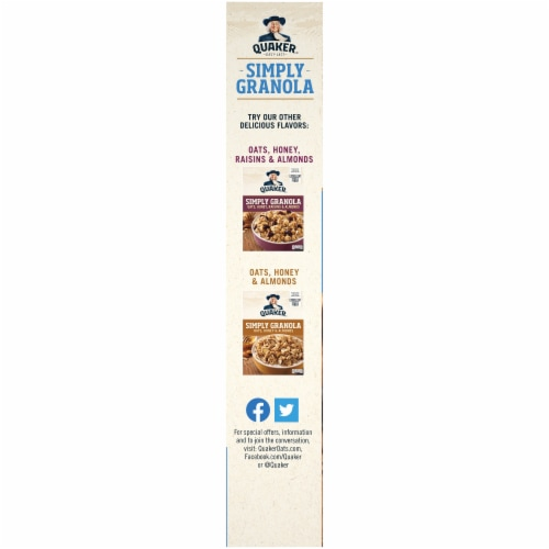 Quaker Simply Granola Oats & Honey With Vanilla & Pecan Perspective: left