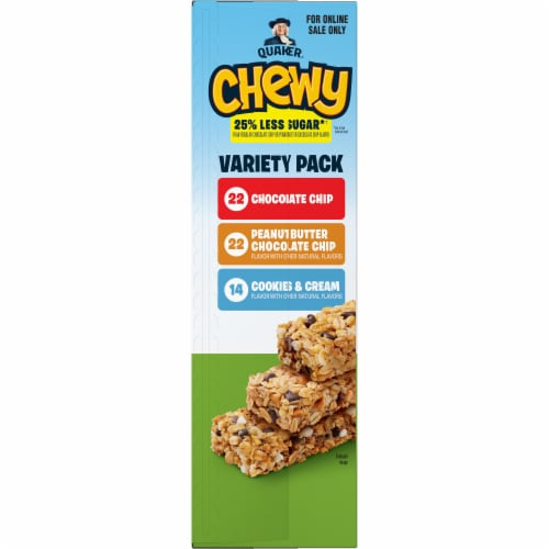 Quaker Chewy Less Sugar Granola Bars Variety Pack Perspective: left