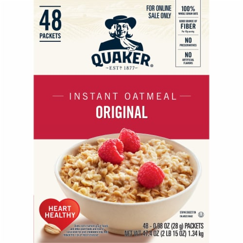 Quaker Original Instant Oatmeal 48 Count Perspective: left