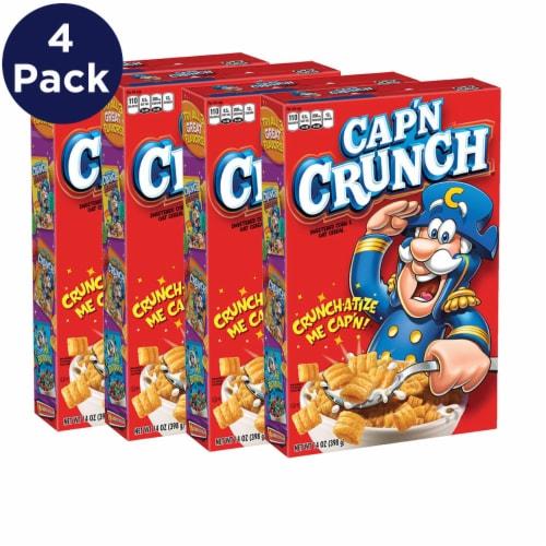 Cap'N Crunch Sweetened Corn & Oat Cereal Perspective: left
