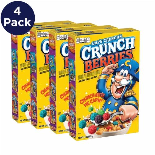 Cap'N Crunch's Crunchberries Sweetened Corn & Oat Cereal Perspective: left