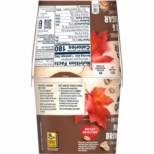 Quaker® Oatmeal Maple & Brown Sugar Instant Oatmeal Perspective: left