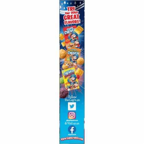 Cap'N Crunch Red White & Blue Crunch Cereal Perspective: left