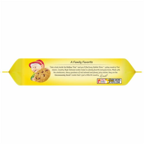 Keebler Country Style Oatmeal Cookies with Raisins Perspective: left