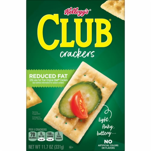 Club Reduced Fat Crackers Perspective: left