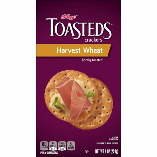 Toasteds Crackers Harvest Wheat Perspective: left