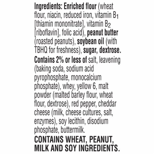 Keebler Paw Patrol Cheese & Peanut Butter Sandwich Crackers Perspective: left