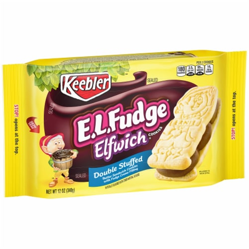 Keebler E.L.Fudge Double Stuffed Elfwich Cookies Perspective: left