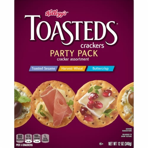 Toasteds Party Crisp Crackers Variety Pack Perspective: left
