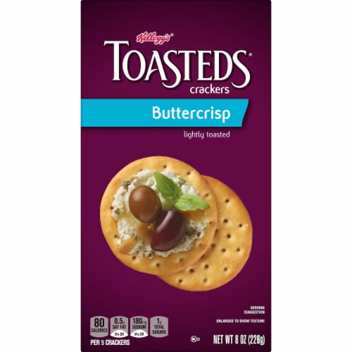 Toasteds Buttercrisp Crackers Perspective: left