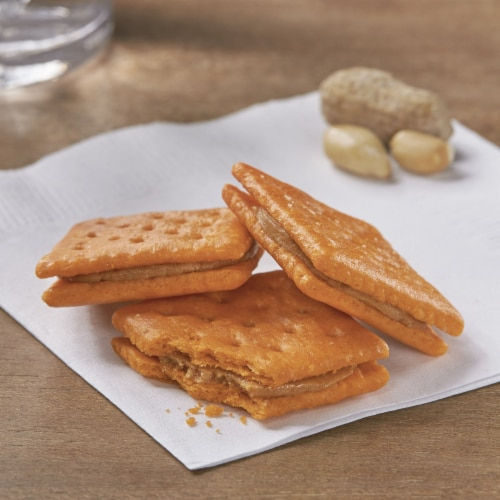 Keebler Cheese & Peanut Butter Sandwich Crackers Perspective: left