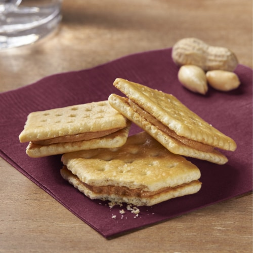 Keebler Snacks Toast and Peanut Butter Sandwich Crackers Perspective: left
