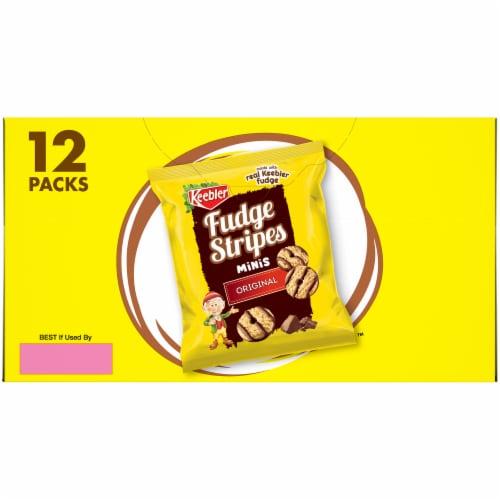 Keebler Fudge Stripes Original Mini Cookies 12 Count Perspective: left