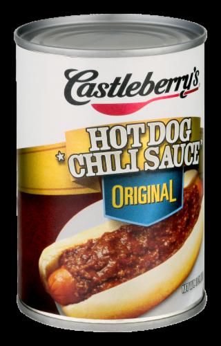 Castleberry's Original Hot Dog Chili Sauce Perspective: left