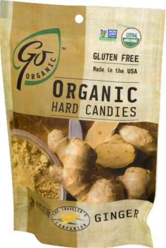 Go Naturally Organic Ginger Hard Candies Perspective: left