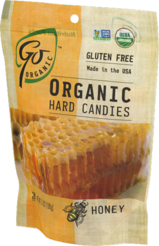 Go Naturally Organic Honey Hard Candies Perspective: left