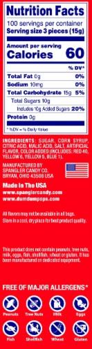 Dum Dums Original Assorted Flavor Lollipops Perspective: left