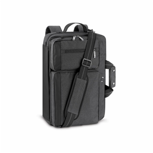 Solo Duane Hybrid Laptop Backpack Briefcase - Gray Perspective: left