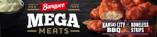 Banquet Mega Meats Kansas City Barbeque Boneless Wings Perspective: left