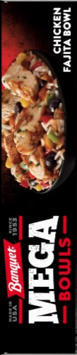 Banquet Mega Bowls Chicken Fajita Bowl Dinner Perspective: left