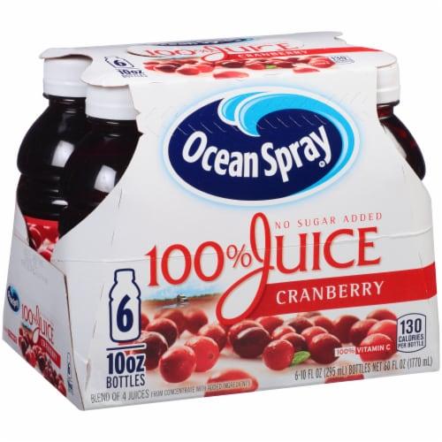 Ocean Spray No Sugar Added 100% Cranberry Juice Perspective: left