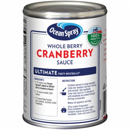 Ocean Spray Whole Berry Cranberry Sauce Perspective: left