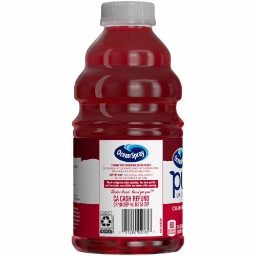 Ocean Spray Unsweetened Pure Cranberry Juice Perspective: left