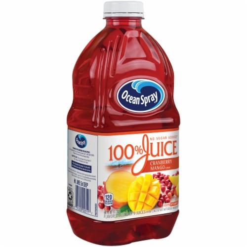 Ocean Spray No Sugar Added 100% Cranberry-Mango Juice Perspective: left