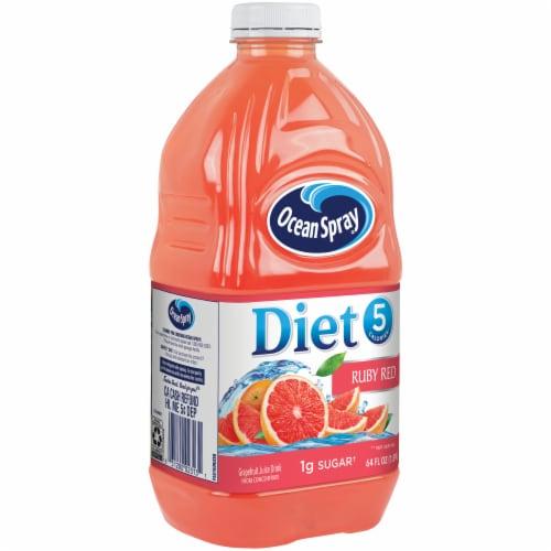 Ocean Spray Diet Ruby Red Grapefruit Juice Drink Perspective: left