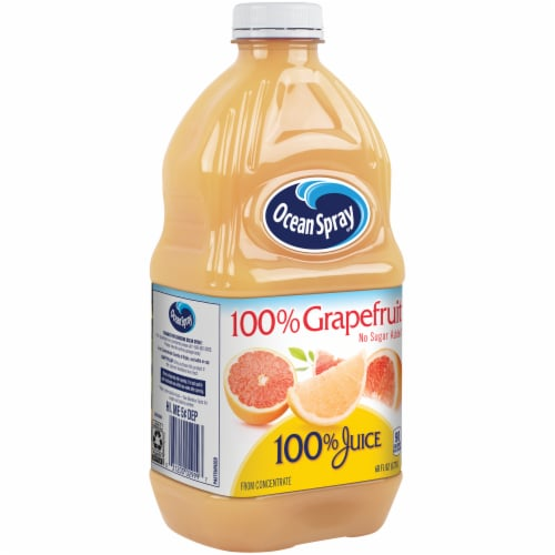 Ocean Spray No Sugar Added 100% Grapefruit Juice Perspective: left